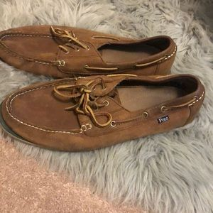 Men's polo boat shoes size 13